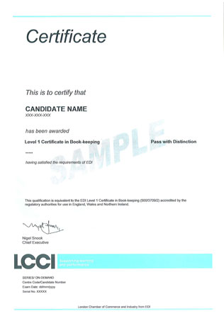 lcci past paper The london chamber of commerce & industry (lcci)  for each examination paper is set by the examinations department taking into consideration the time of.